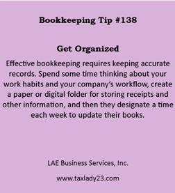 Bookkeeping tip 138